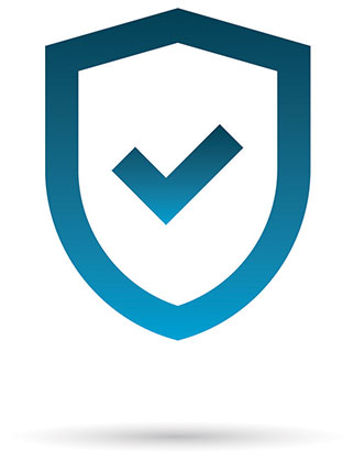 Shield with check mark